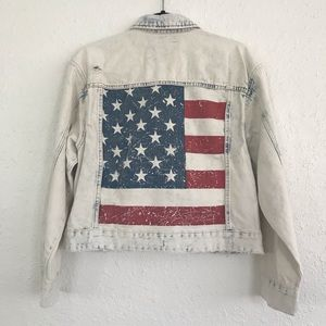 Blank NYC Jackets & Coats - BLANKNYC American Flag Jean Jacket NWT